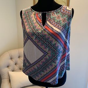 Colorful Sleeveless Tank Blouse by ReneeC.